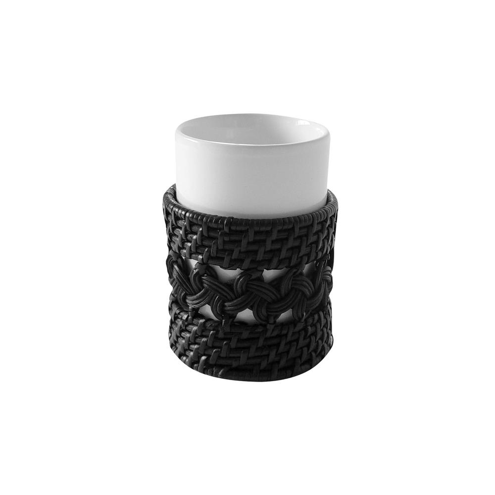 Sebrina Tumbler in White and Espresso 2-Tone Color