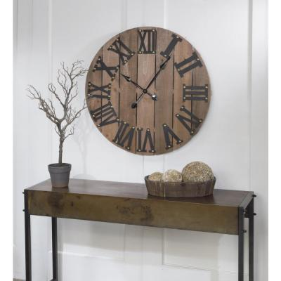 31.5 in. H x 31.5 in. W Large Wooden Wall Clock