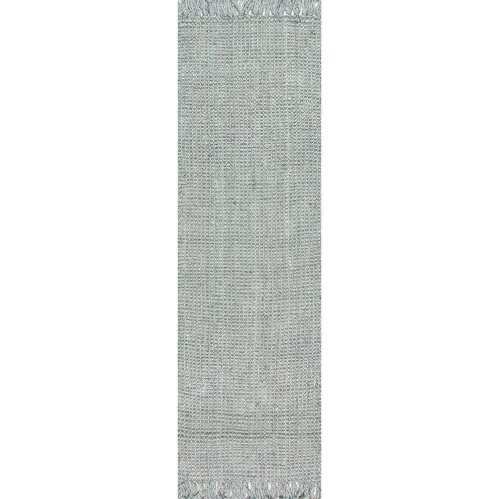 Chunky Loop Jute Grey 2 ft. 6 in. x 8 ft. Runner