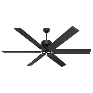 HFC-72 72 in. Indoor/Outdoor Matte Black Ceiling Fan with Wall Control