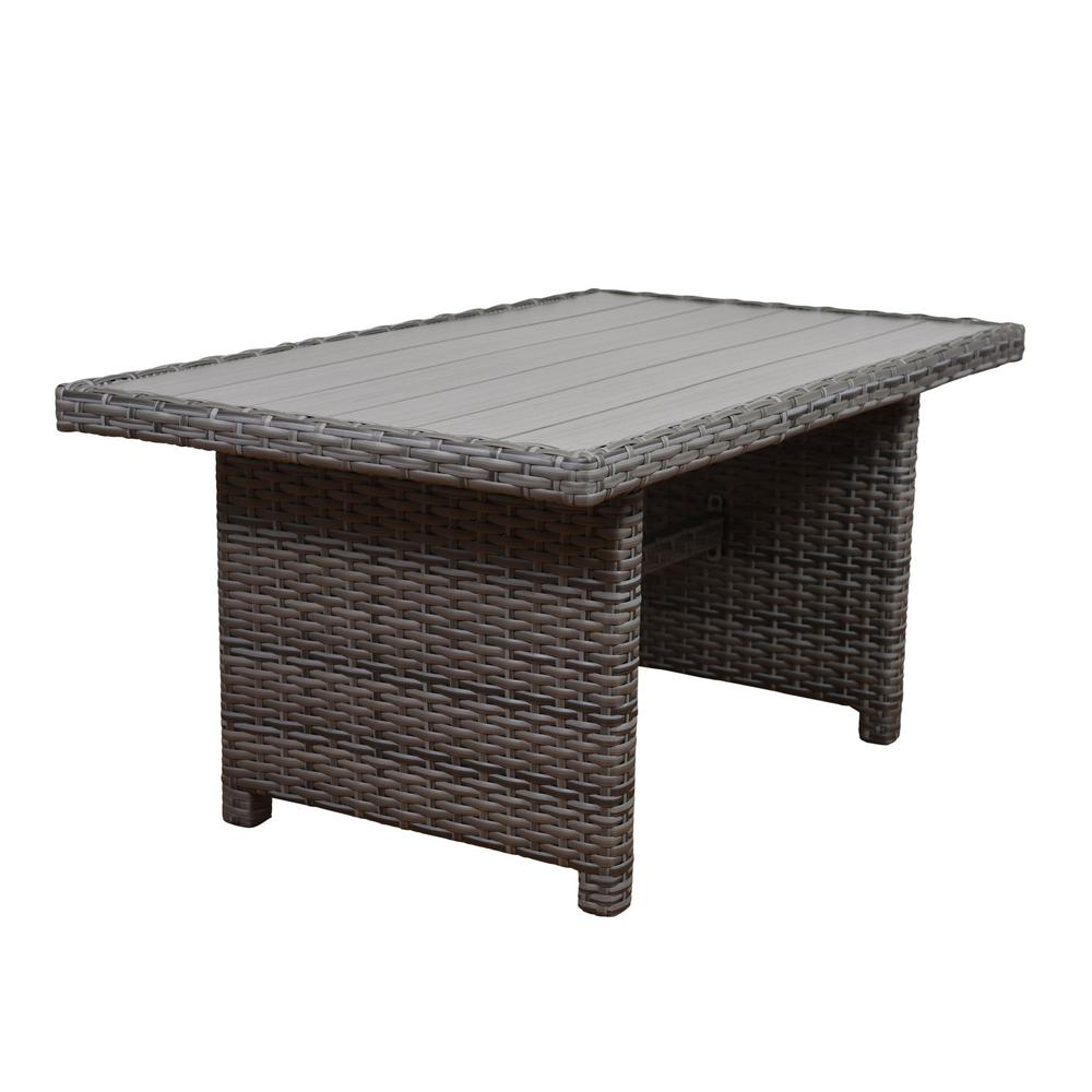 Atlantic Contemporary Lifestyle Cebu Rectangular Synthetic Wicker - Small rectangular patio dining table