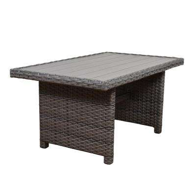 Cebu Rectangular Synthetic Wicker Patio Dining Table