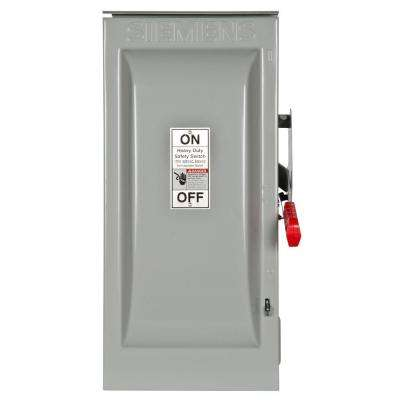 Heavy Duty 100 Amp 600-Volt 3-Pole Outdoor Fusible Safety Switch