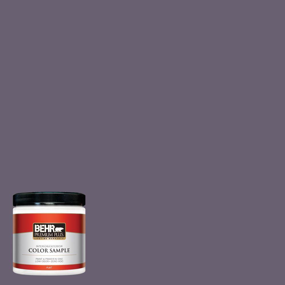 BEHR Premium Plus 8 oz. #ICC-109 Iris Petal Interior/Exterior Paint Sample
