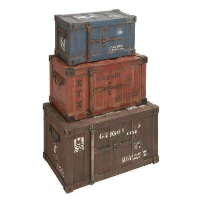 Tri-color distressed Trunk