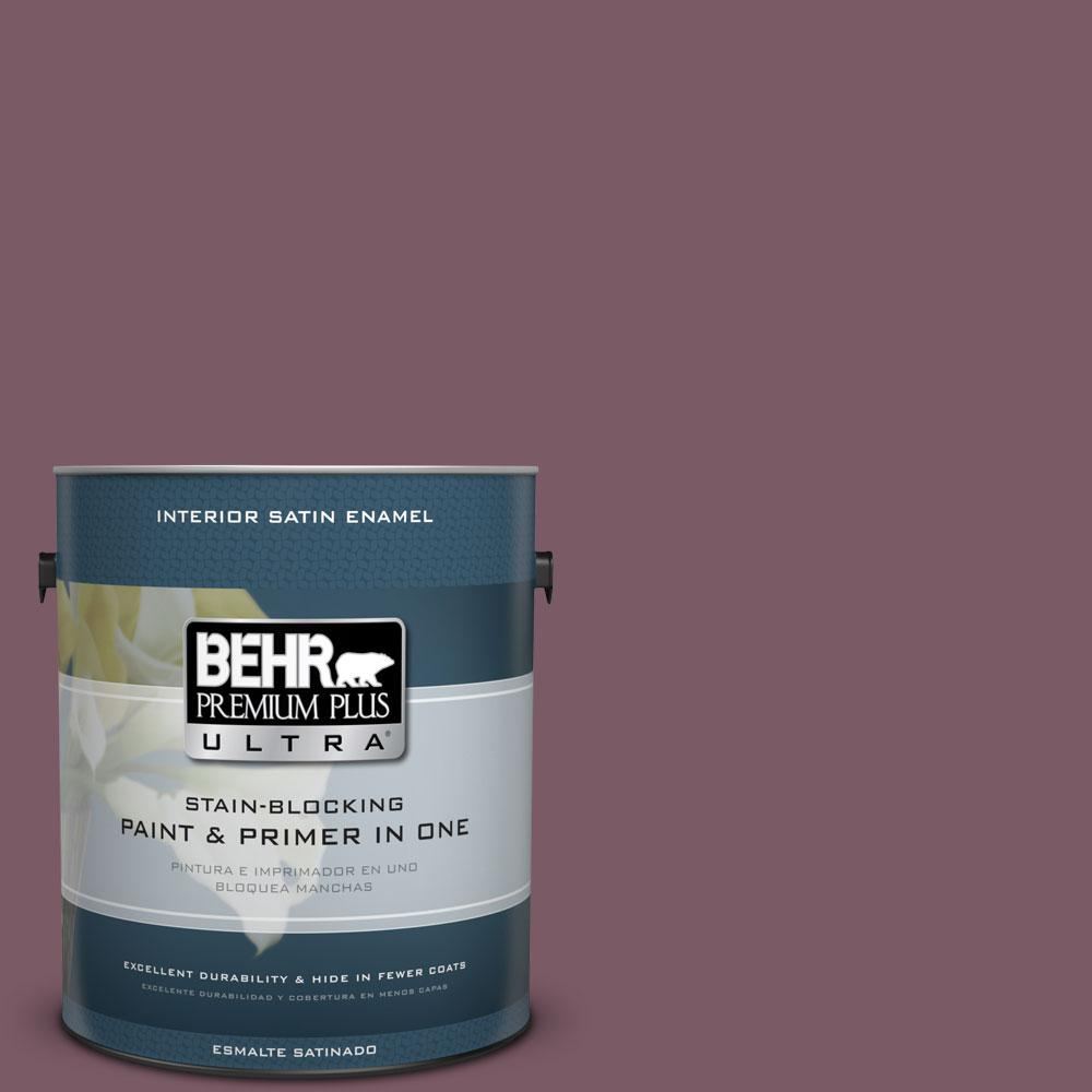 BEHR Premium Plus Ultra 1-gal. #ICC-84 Simply Elegant Satin Enamel Interior Paint