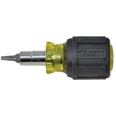 3.2 in. Stubby Multi-Bit Screwdriver with Square Recess Bit