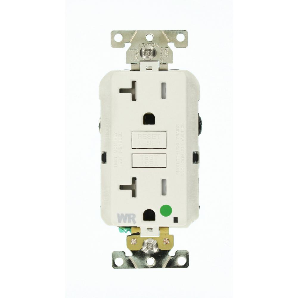 Leviton 20 Amp Smartlockpro Hospital Grade Extra Heavy Duty Weather Wiring A Light Switch From Gfci Tamper Resistant Duplex Outlet