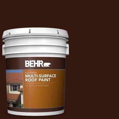 5 gal. #RP-20 Bark Brown Flat Multi-Surface Exterior Roof Paint