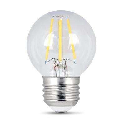 40W Equivalent Soft White G16.5 Dimmable Clear Filament LED Medium Base Light Bulb (Case of 48)
