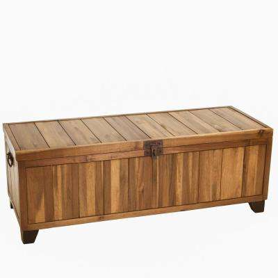 Jada Stained Ebony Brown Wooden Storage Bench