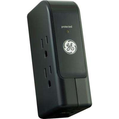3-Outlet and 2-USB Port 2.1 Amp Travel Surge Protector