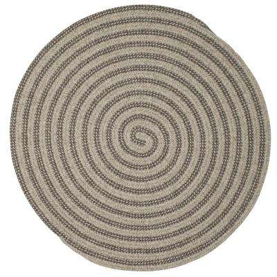 Charmed Dark Gray 8 ft. x 8 ft. Braided Round Area Rug