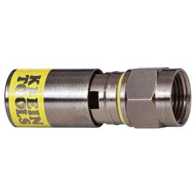 Universal F Compression Connector for RG6/6Q (50-Pack)