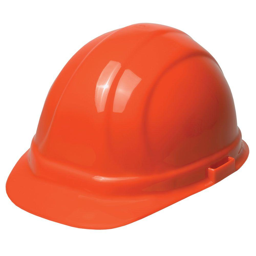ERB Omega II 6 Point Suspension Nylon Mega Ratchet Cap Hard Hat in Orange