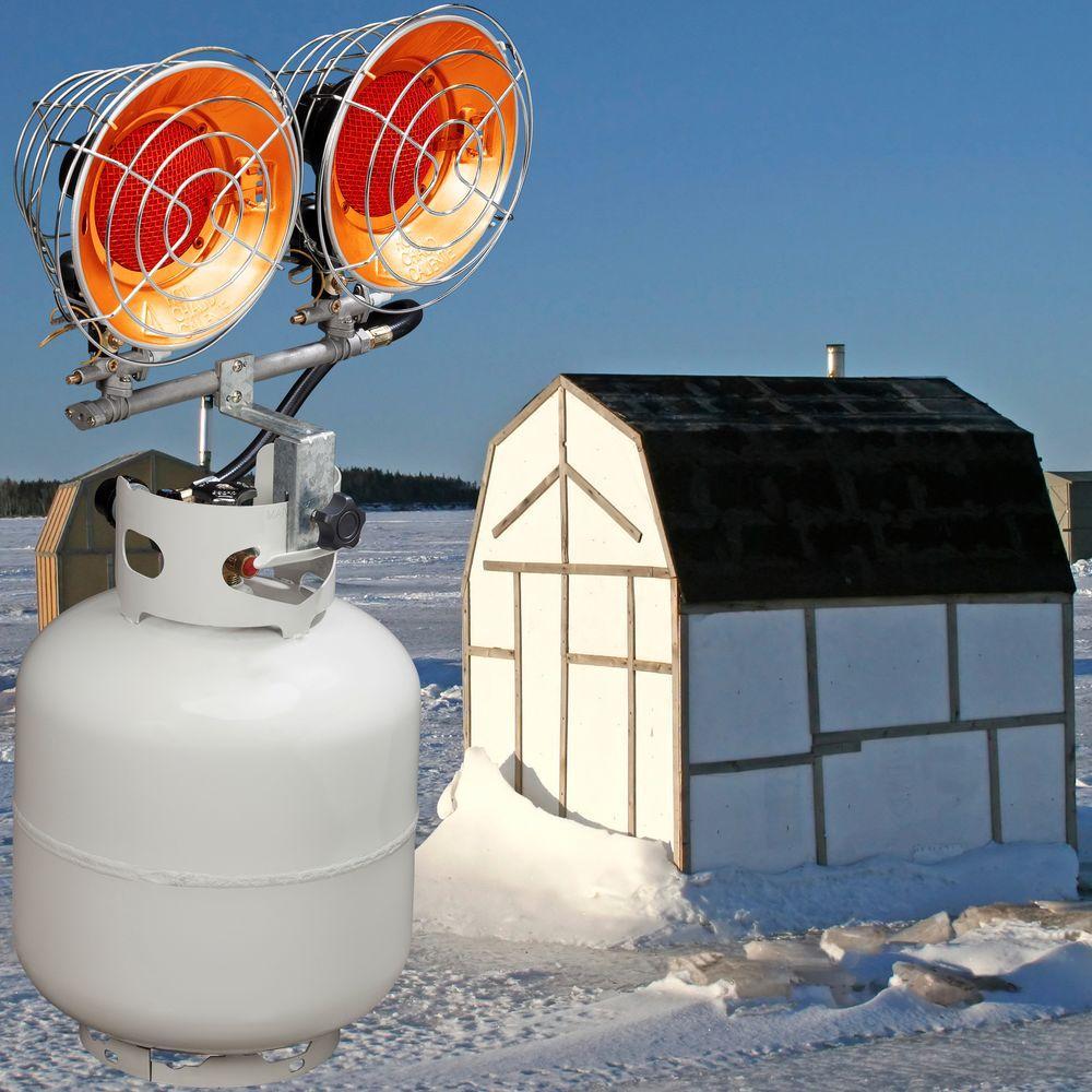 ProCom Portable Dual Tank Top Heater 30,000 BTU Tip Over Protection Regulator