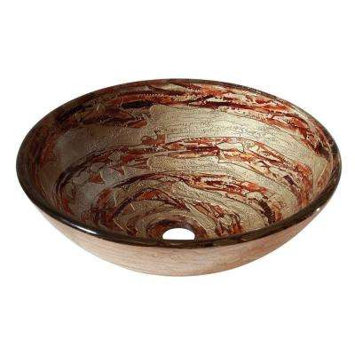Vessel Sink in Copper Swirl