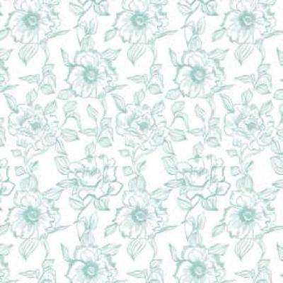 Creative Covering English Rose Blue Floral Adhesive Shelf and Drawer Liner