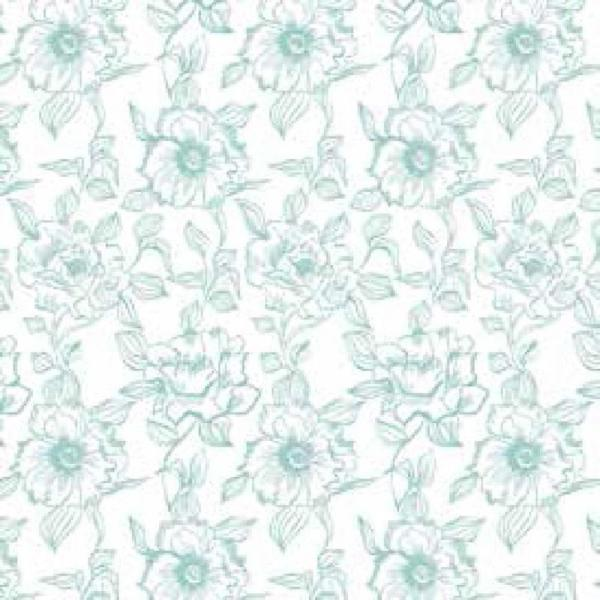 Con-Tact Creative Covering English Rose Blue Floral Adhesive Shelf and Drawer