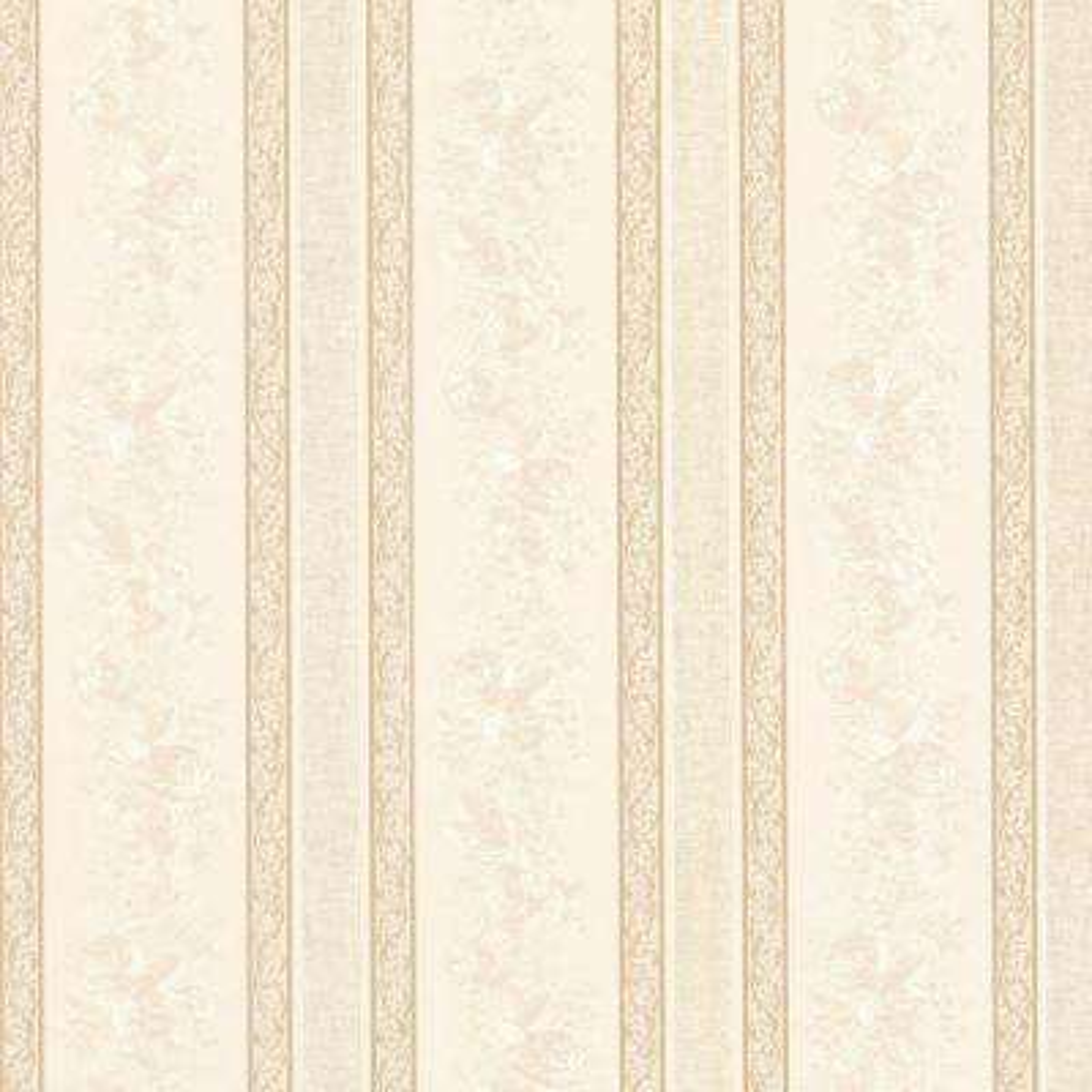 Trish Cream Satin Floral Scroll Stripe Wallpaper