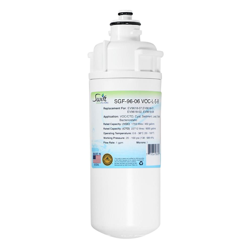 Swift Green Filters SGF-96-06 VOC-L-S-B Replacement Water Filter for Everpure EV9618-07