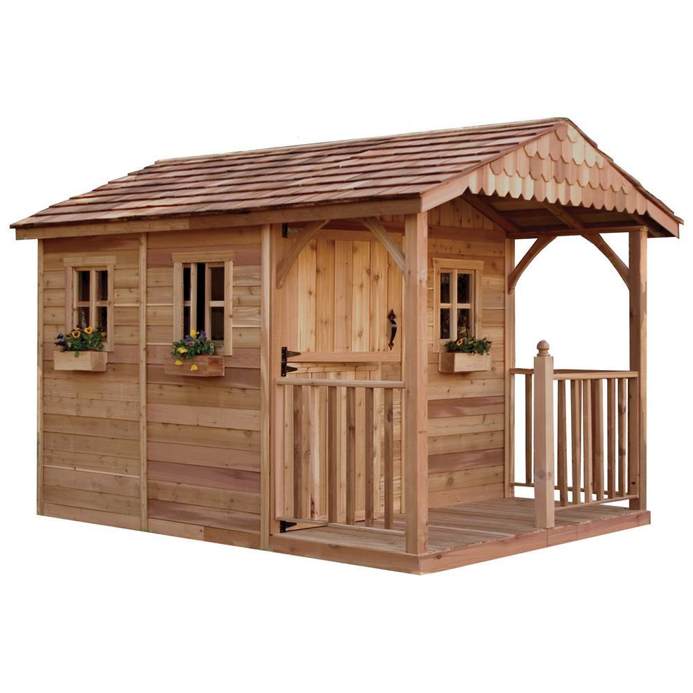 Santa Rosa 12 ft. x 8 ft. Cedar Garden Shed