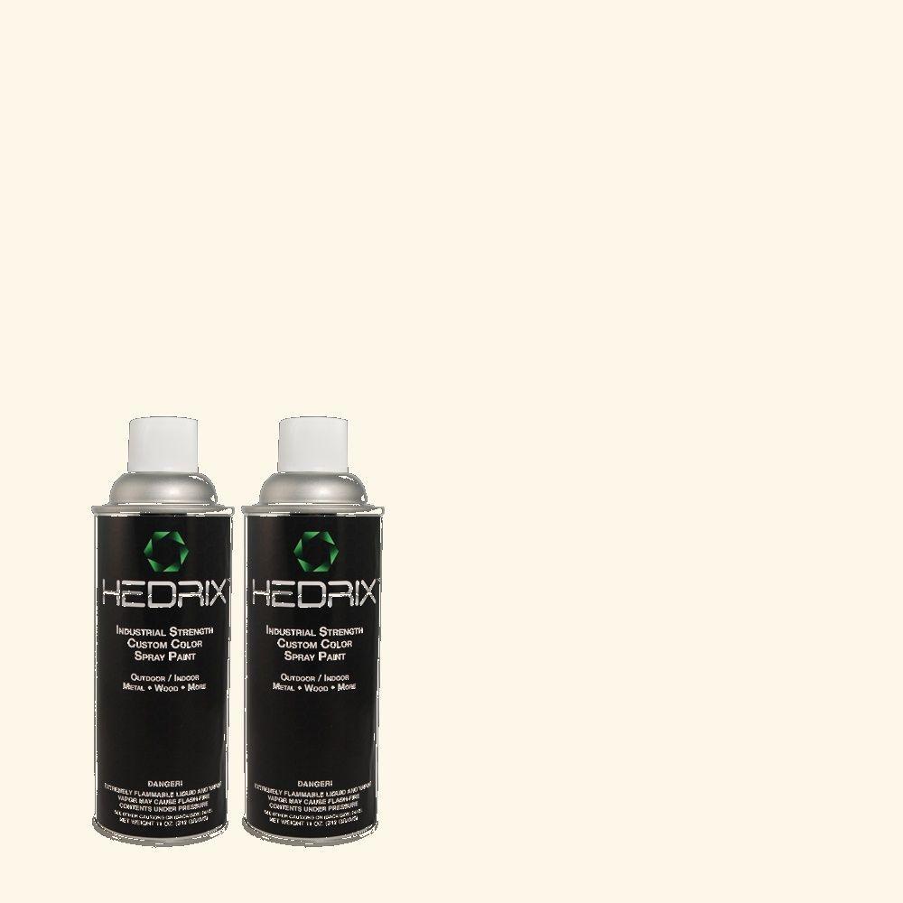 Hedrix 11 oz. Match of PWN-11 Calla Lily Semi-Gloss Custom Spray Paint (2-Pack)