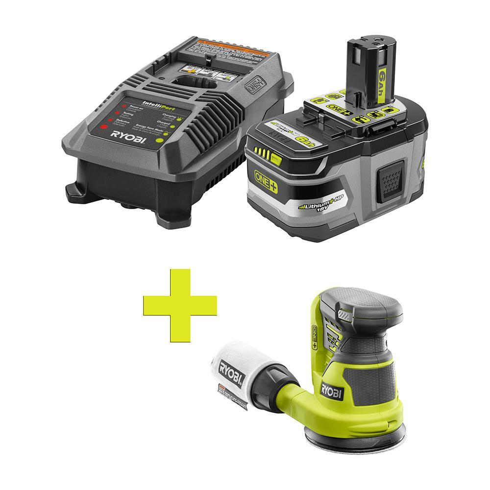 18-Volt ONE+ Lithium-Ion LITHIUM+ HP 6.0 Ah Starter Kit w/ Bonus ONE+ 5 in. Random Orbit Sander