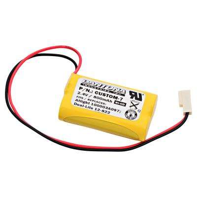 Dantona 2.4-Volt 800 mAh Ni-Cd battery for Dual-Lite - 120822 Emergency Lighting
