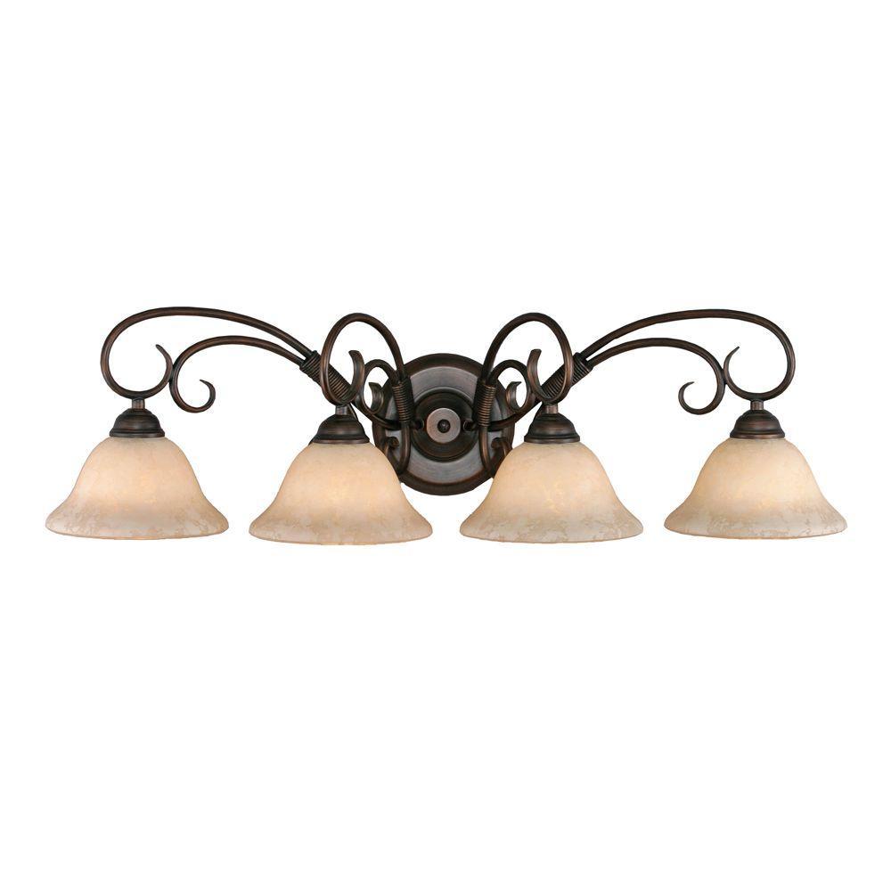 Homestead Collection 4-Light Rubbed Bronze Bath Vanity Light