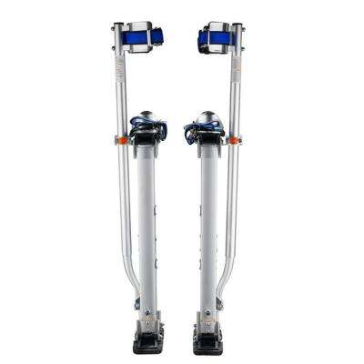 18 in. to 30 in. Adjustable Height Drywall Stilts in Silver