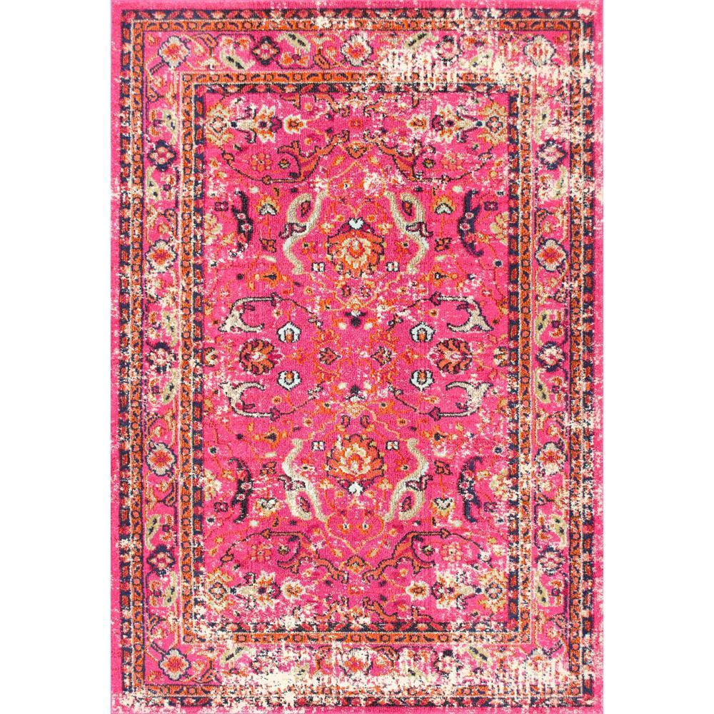 Nuloom Celina Floral Mandala Pink 4 Ft X 6 Ft Area Rug