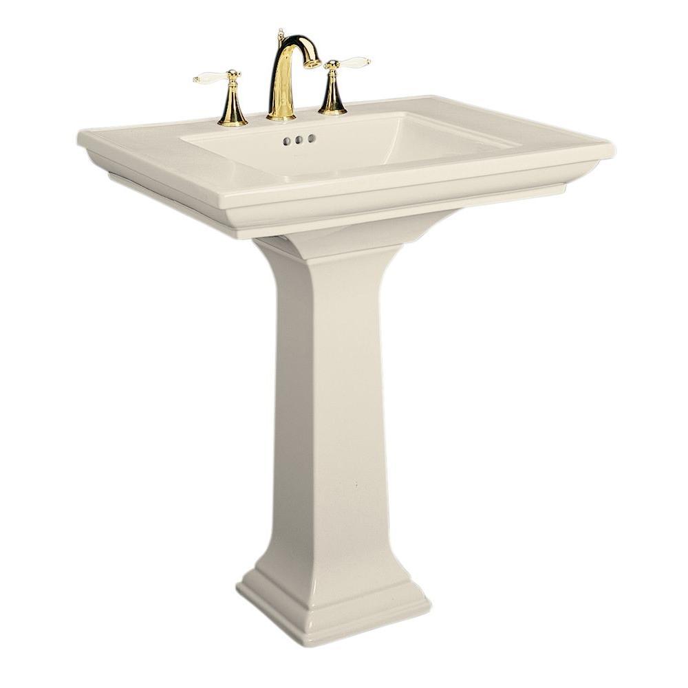 Memoirs Pedestal Combo Bathroom Sink in Almond