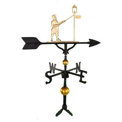 32 in. Deluxe Gold Lamplighter Weathervane