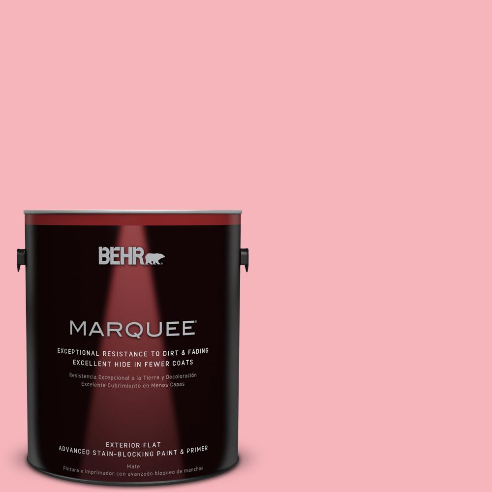 BEHR MARQUEE 1-gal. #P180-3 Pink Mimosa Flat Exterior Paint-445401 ...