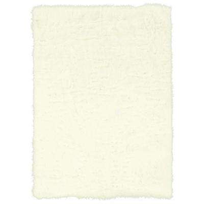 Faux Sheepskin White 5 ft. x 7 ft. Indoor Area Rug