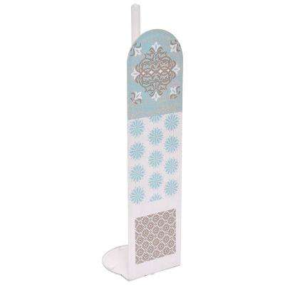 Faience Printed Toilet Paper Holder Paper Roll Storage Holder Stand- 4-Rolls in 100% Acrylic