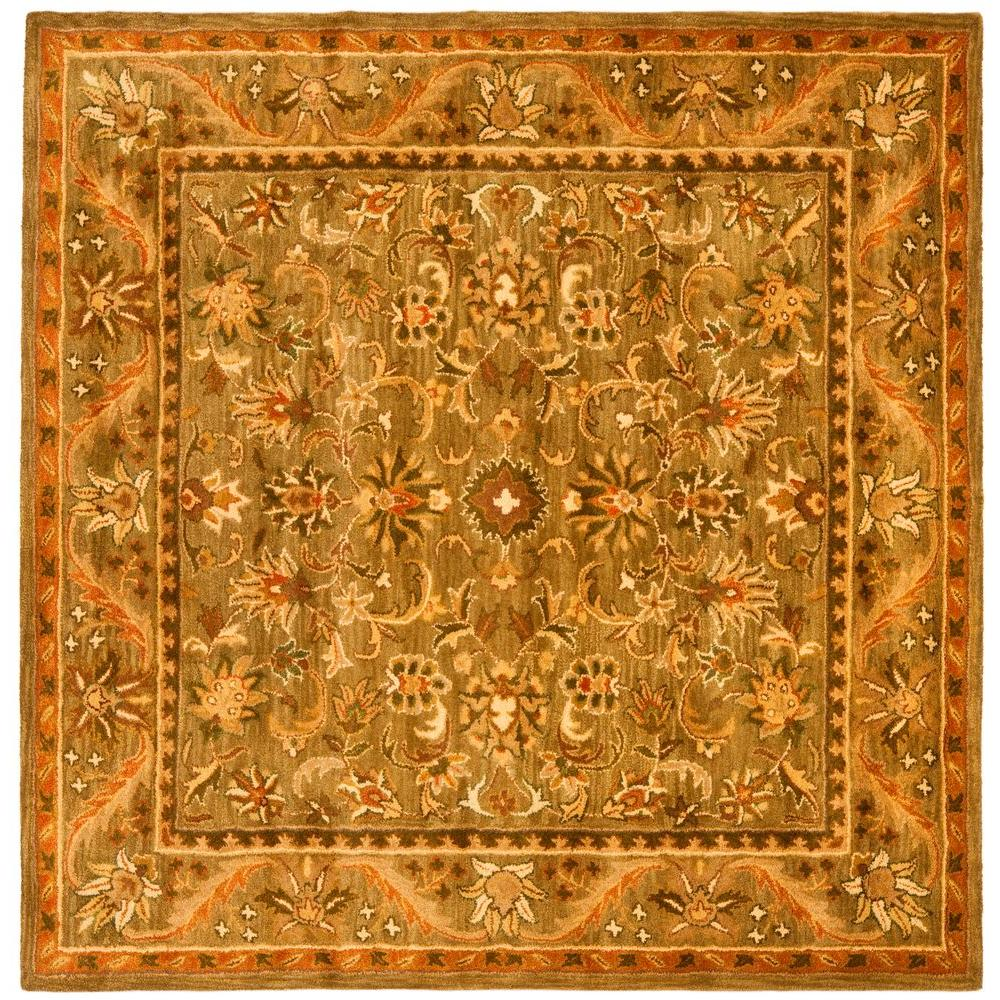 Safavieh Antiquity Olive Gold 6 Ft X 6 Ft Square Area