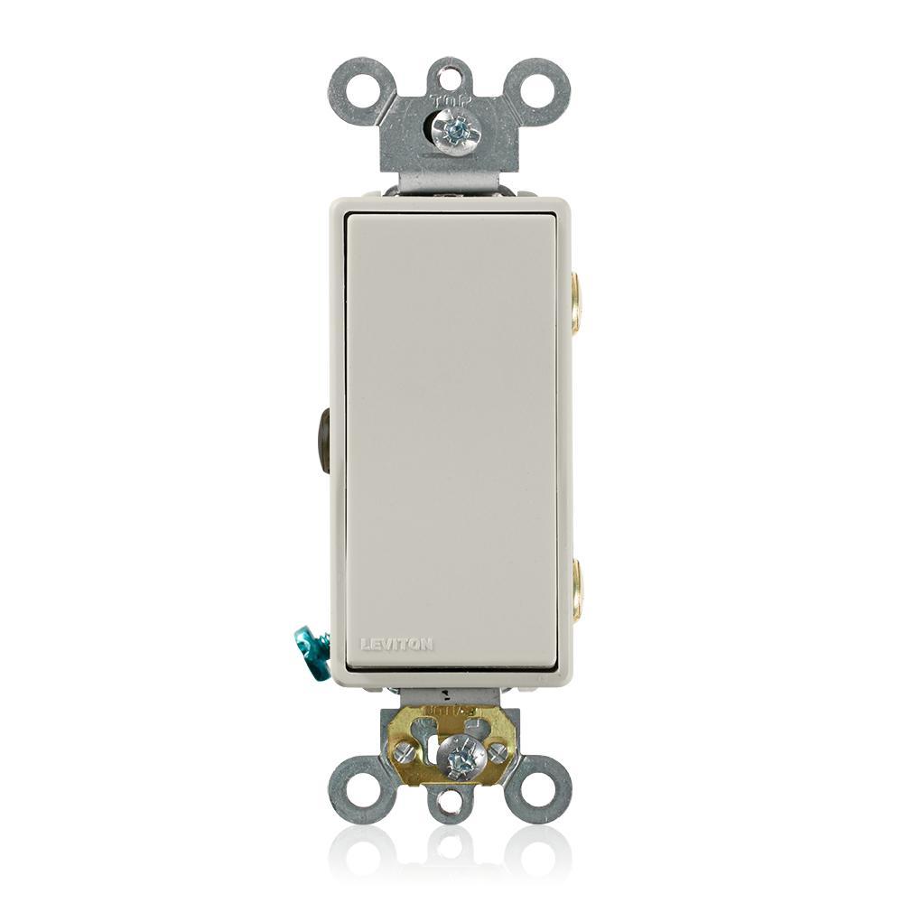 Decora 15 Amp 3-Way AC Quiet Rocker Switch, Light Almond