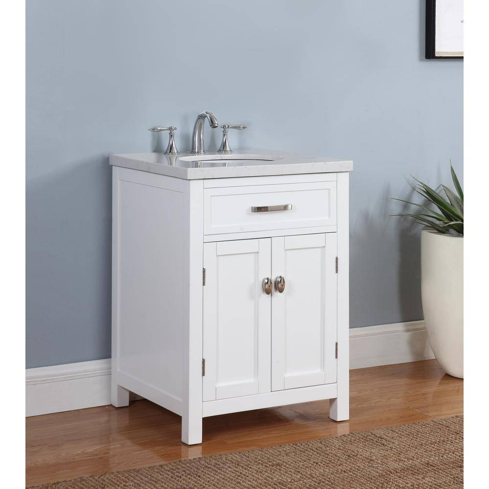 Crawford burke solana 23 in w x 22 in d vanity in - Crawford and burke bathroom vanity ...