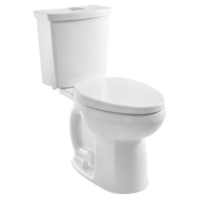 Cadet Ultra Low Tall Height 2-Piece 0.92/1.28 GPF Dual Flush Right Elongated Toilet in White, Seat Included