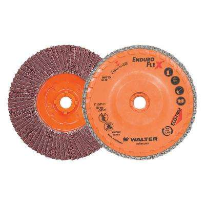 ENDURO-FLEX 5 in. x 5/8-11 in. Arbor GR40 The Longest Life Flap Disc (10-Pack)