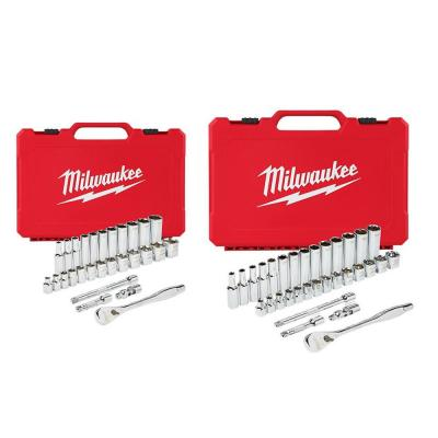 3/8 in. Drive SAE/Metric Ratchet and Socket Mechanics Tool Set (60-Piece)