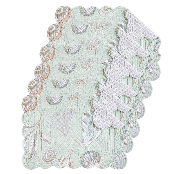 C & F Home Breezy Shores Green Placemat (Set of 6)
