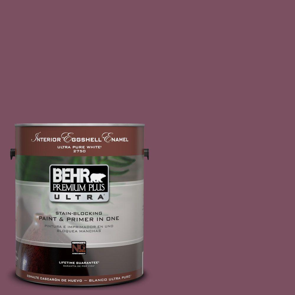 BEHR Premium Plus Ultra 1-Gal. #UL100-20 Classic Berry Interior Eggshell Enamel Paint-DISCONTINUED