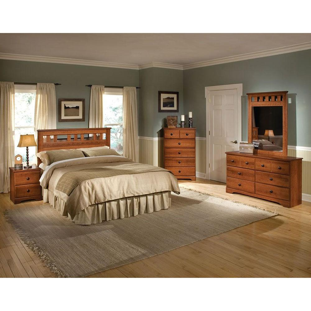 Cambridge Seasons 5-Piece Light Cherry Queen Bed, Dresser ...