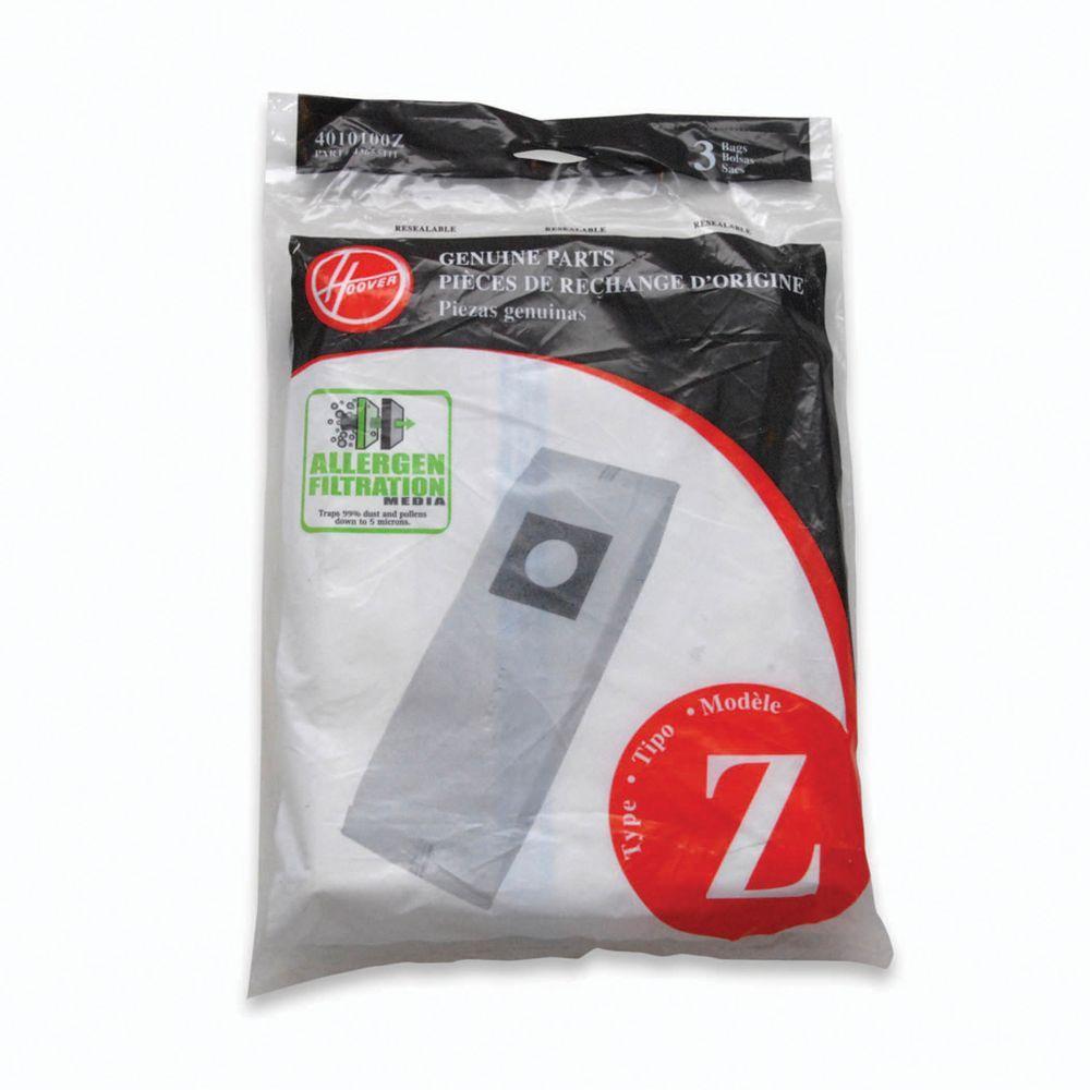 Type Z Allergen Filtration Bags (3-Pack)