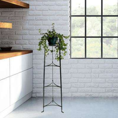 4-Tier Hammered Standing Steel Plant Stand