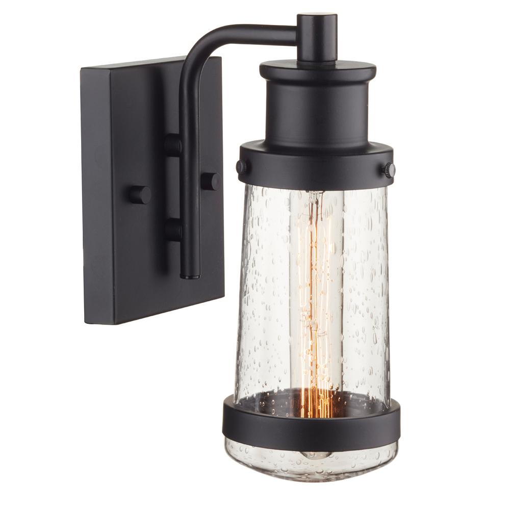 Bennett 1-Light Matte Black Outdoor Wall Sconce