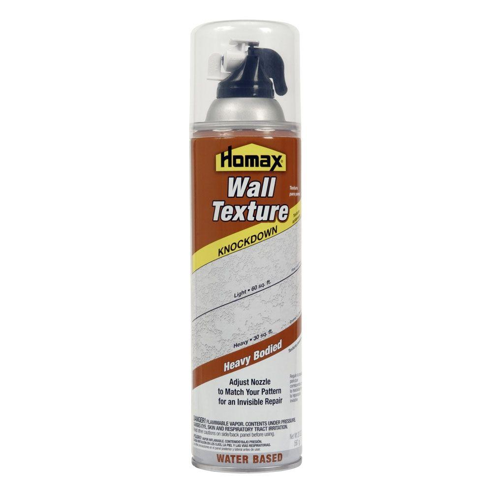 Spray On Plaster For Walls : Homax oz wall knockdown water based spray texture